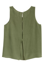 Crinkled top - Khaki green - Ladies | H&M CN 3
