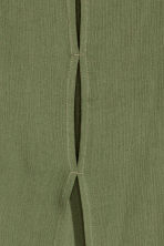 Crinkled top - Khaki green - Ladies | H&M CN 4