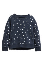 Printed sweatshirt - 深蓝色/心形 - Kids | H&M CN 2