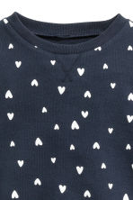 Printed sweatshirt - Dark blue/Heart - Kids | H&M CN 3