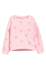 Printed sweatshirt - Light pink/Stars - Kids | H&M CN 2