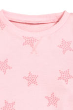 Printed sweatshirt - Light pink/Stars - Kids | H&M CN 3