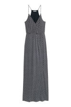 Patterned maxi dress - Dark blue - Ladies | H&M CN 2