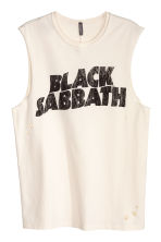 Printed vest top - White/Black Sabbath - Men | H&M CN 2