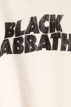Printed vest top - White/Black Sabbath - Men | H&M CN 3