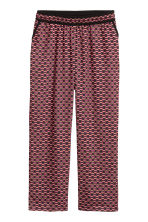 H&M+ Wide trousers - Black/Patterned - Ladies | H&M CN 2