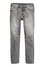 Straight Regular Ripped Jeans - Gris foncé washed out - HOMME | H&M CH 2