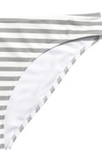 Bikini bottoms - White/Grey striped - Ladies | H&M CN 3