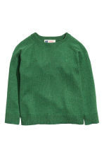 Cotton and cashmere jumper - Green - Kids | H&M CN 2