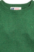 Cotton and cashmere jumper - Green - Kids | H&M CN 3