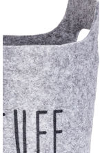 Corbeille de rangement - Gris chiné - Home All | H&M FR 3