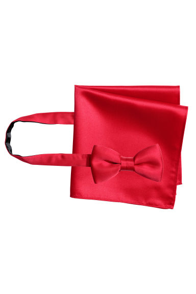 Bow tie and handkerchief - Red - Men | H&M CN