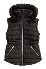 H&M+ Padded gilet - Black - Ladies | H&M CN 2