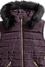 H&M+ Padded gilet - Plum - Ladies | H&M CN 3