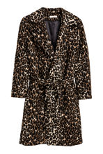 H&M+ Patterned coat - Leopard print - Ladies | H&M CN 2