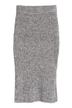 H&M+ Ribbed pencil skirt - Black/White marl - Ladies | H&M CA 2