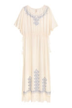 Kaftan with lace - Natural white/Blue - Ladies | H&M CN 2