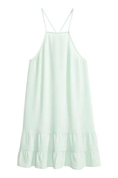Tiered crêpe dress - Light mint green -  | H&M CN