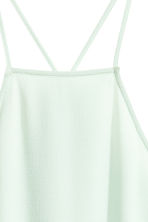 Tiered crêpe dress  - Light mint green - Ladies | H&M CN 3
