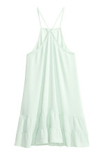 Tiered crêpe dress  - Light mint green - Ladies | H&M CN 2