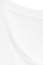Ribbed vest top - White - Men | H&M CN 3