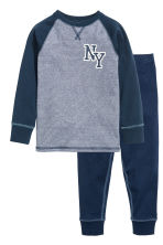 Pigiama in jersey - Blu scuro/New York - BAMBINO | H&M IT 1