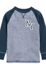 Pigiama in jersey - Blu scuro/New York - BAMBINO | H&M IT 3