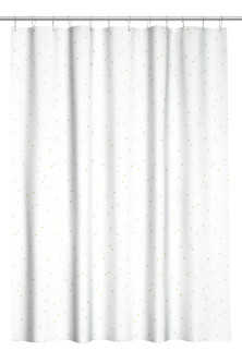 Patterned shower curtain