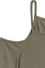 Cold shoulder dress - Khaki green - Ladies | H&M CN 3