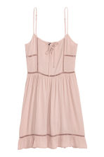 Dress with embroidery - Old rose - Ladies | H&M GB 2