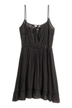 Dress with embroidery - Black - Ladies | H&M CN 2