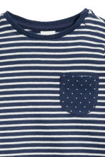 Long-sleeved top - Dark blue/Striped -  | H&M CN 2