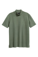 Turtleneck T-shirt - Khaki green - Men | H&M CN 2