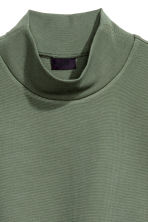 Turtleneck T-shirt - Khaki green - Men | H&M CN 3