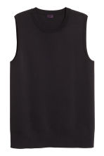 Fine-knit vest top - Black - Men | H&M CN 3