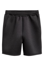 Shorts in scuba fabric - Black - Men | H&M CN 1
