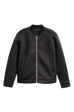 Bomber jacket in scuba fabric - Black - Men | H&M CN 2