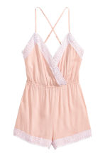 Playsuit with lace - Powder pink - Ladies | H&M CN 2