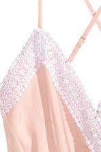 Playsuit with lace - Powder pink - Ladies | H&M CN 3