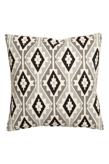 Patterned cushion cover - Natural white/Grey - Home All | H&M CN 1