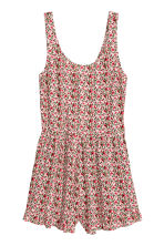 Patterned playsuit - Natural White/Red floral  - Ladies | H&M CN 2