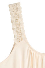 Top with lace shoulder straps - Natural white - Ladies | H&M CN 3