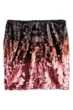 H&M+ Sequined skirt - Black/Copper - Ladies | H&M CN 2