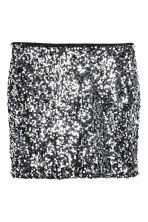 H&M+ Gonna di paillettes - Black/Silver - DONNA | H&M IT 2