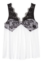 H&M+ Lace strappy top - White/Black - Ladies | H&M CN 2