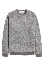 Wool-blend jumper - Grey marl - Men | H&M CN 2