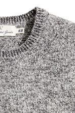 Wool-blend jumper - Grey marl - Men | H&M CN 3