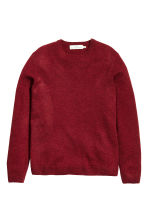 Wool-blend jumper - Dark red - Men | H&M CN 2