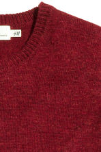 Wool-blend jumper - Dark red - Men | H&M CN 3