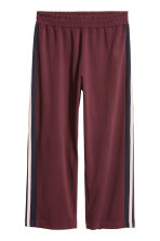 H&M+  Pantaloni ampi - Bordeaux - DONNA | H&M IT 2